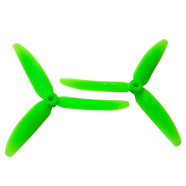 3 Blade Tri Propeller 5x3 Green Nylon CCW CW