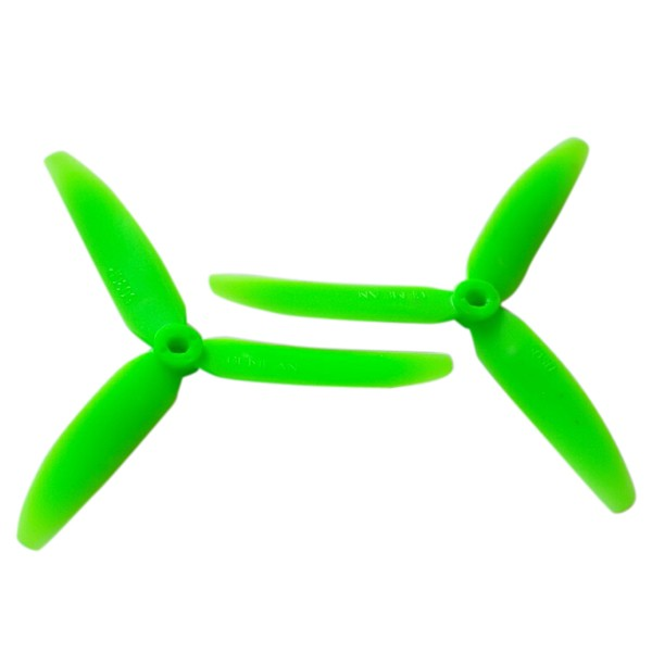 3 Blade Tri Propeller 6x4.5 Green Nylon CCW CW