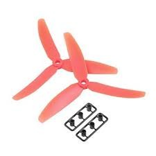 3 Blade Tri Propeller 6x4.5 Red Nylon CCW CW