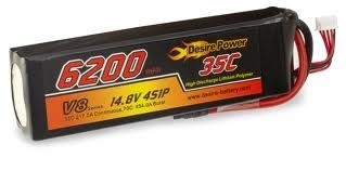 Desire Power 4S LiPo Battery 6200 mAh 35C