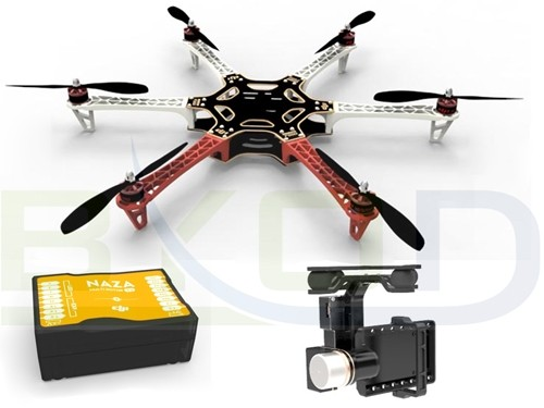 DJI Naza M V2 GPS + H3-2D Brushless Gimbal + F550 Flame Wheel