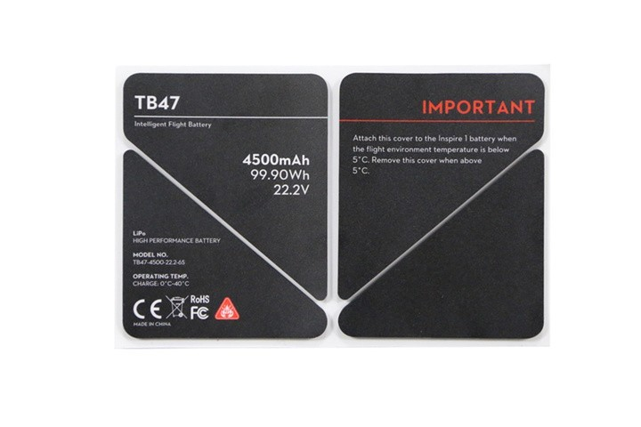 DJI Inspire 1 TB47 Battery Insulation Sticker