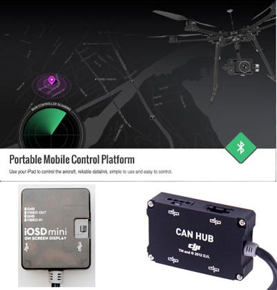 DJI iOSD Mini + iPad Ground Station + CanHub