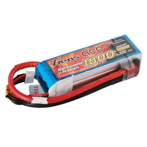 Gens Ace 2S 7.4v 1800mAh 40C Lipo Battery