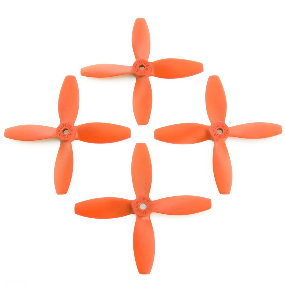 Lumenier 4x4x4 4 Blade Propeller Orange