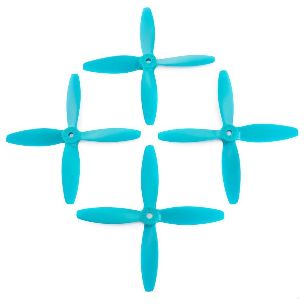 Lumenier 5x4x4 4 Blade Propeller Set Of 4 Blue
