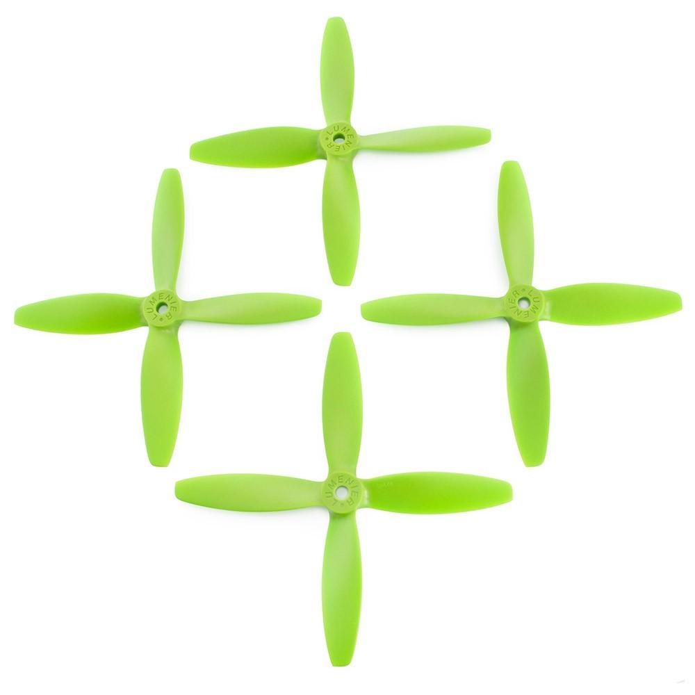 Lumenier 5x4x4 4 Blade Propeller Set Of 4 Green