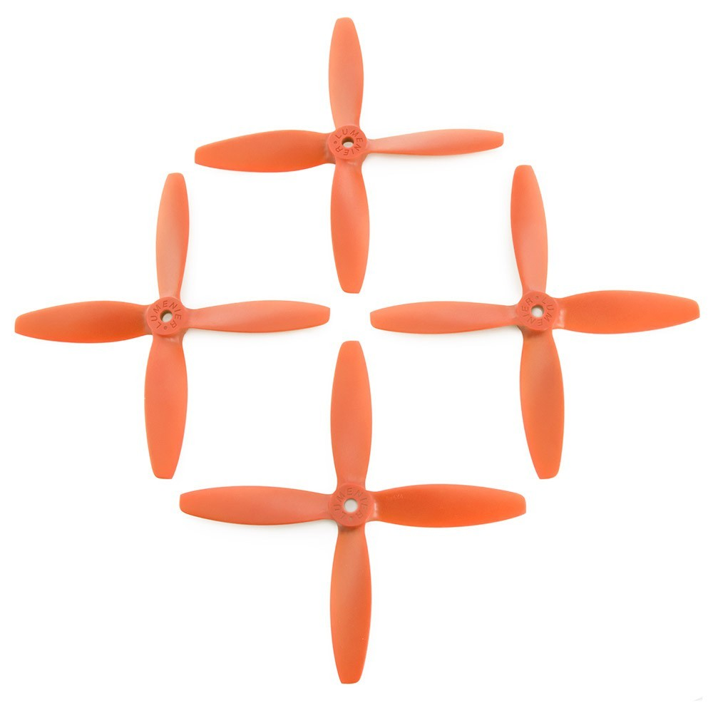 Lumenier 5x4x4 4 Blade Propeller Set Of 4 Orange