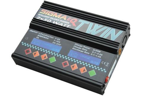 Sigma EQ Twin AC / DC LiPo Charger 2 x 50W