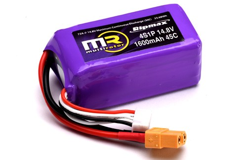 Ripmax MR 4S 1600mAh 45C Lipo With XT60
