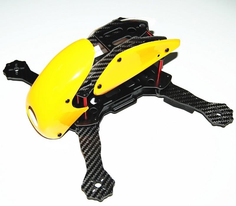 RoboCat 270mm 3K Carbon Fiber Mini FPV Racing Quad Open Top