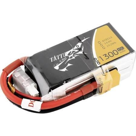 Gens Ace TATTU 1300 mAh 14.8V 4S 75C Lipo Battery