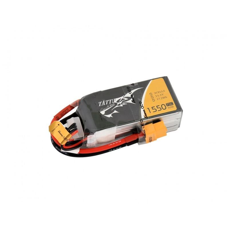 Gens Ace TATTU 1550 mAh 14.8V 4S 75C Lipo Battery