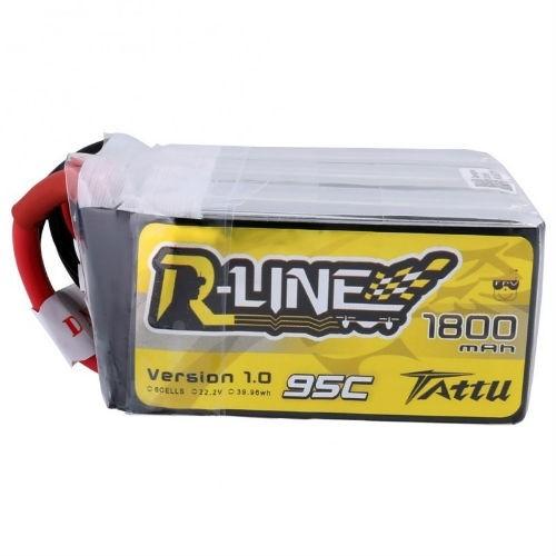 Tattu R-Line 1800mAh 22.2v 6S 95C Lipo Battery Side