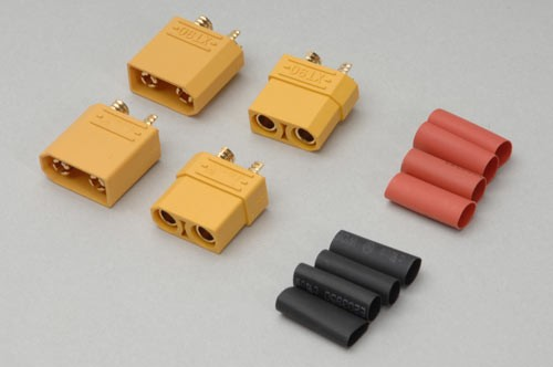 XT90 Connectors With Heat Shrink