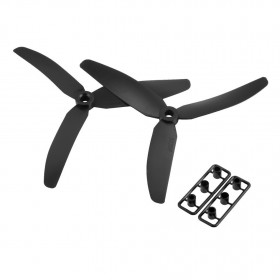3 Blade Tri Propeller 5x3 Black Nylon Pair Of CCW CW
