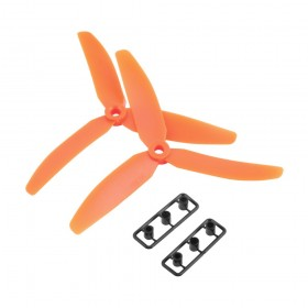 3 Blade Tri Propeller 5x3 Orange Nylon Pair Of CCW CW