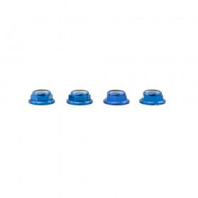 Lumenier M5 Blue Aluminum Low Profile Lock Nuts