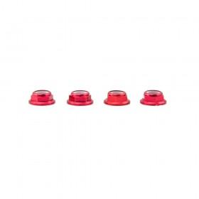 Lumenier M5 Red Aluminum Low Profile Lock Nut Set Of 4 CCW