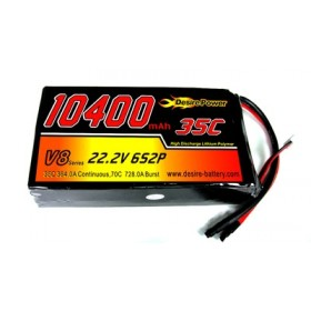 Desire Power 6S LiPo Battery 10400 mAh 35C