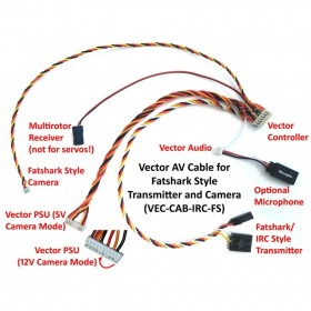 Eagle Tree Vector AV Cables For IRC/FatShark