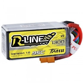 Tattu R-Line 1300mAh 95C Lipo Battery 14.8V 4S