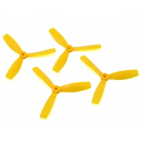 HQProp Durable 5X4.6X3 Tri-Blade Propellers Yellow