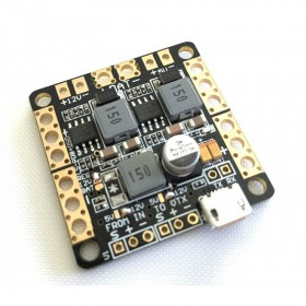 Power Distribution Board With OSD, LC Filter And 5v And 12v BEC's