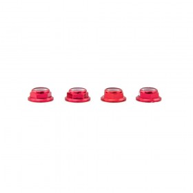 Lumenier M5 Red Aluminum Low Profile Lock Nut Set Of 4 CW